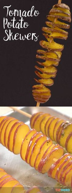 Perhaps the coolest way to bake up a potato! You've got to try these Tornado Potato Skewers! With a mix of herbs, butter and cheese they are as delicious as they are fun to eat. Click for the video and recipe and enjoy! #dinnertime #funrecipes #familydinner