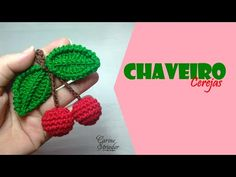 Crochet Cherry Applique - We Love Crochet Crochet Fruit, Crochet Birds, Crochet Diy, Crochet Food, Crochet Bear, Love Crochet, Crochet Motif, Crochet Flowers, Crochet Hats