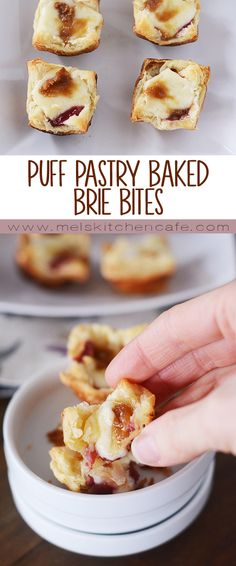 These Puff Pastry Baked Brie Bites are so easy to make. So very, very tasty to eat.