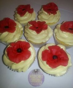 Poppy cupcakes! www.facebook.com/wilddaisy