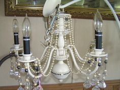 upcycled fantasy chandelier