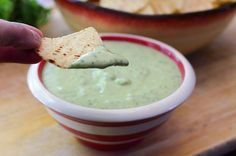 Creamy Tomatillo Avocado Salsa - From Valerie's Kitchen Mexican Food Recipes, Snack Recipes, Cooking Recipes, Party Recipes, Dip Recipes, Healthy Recipes, Yummy Drinks, Yummy Food, Delicious Recipes