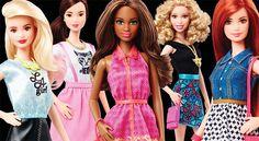 Barbie ganha novos tons de pele, olhos e cabelos diferentes, além de não usar mais salto;