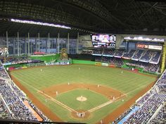 Miami Marlins at Marlins Park...capacity 37,000