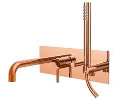 Produkty włoskiej firmy Paffoni wyróżniają się nowoczesną formą oraz perfekcyjnym wykonaniem. Produkty dostępne również w innych kolorach. . . . #różowezłoto #paffoni #łazienka #bathroom #design #inspiracja #projektowanie #wanna #prysznic #bateriełazienkowe #mieszkanie #remont #skleponline Bath