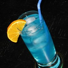 Blue Dolphin: Malibu Coconut Rum, Rum, Blue Curacao, Vodka, Sprite, Lemonade.