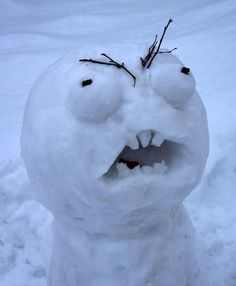 Image result for snow sculptures troll