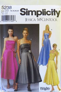 Simplicity 5238 Misses'/Miss Petite Evening Dress in Two Lengths