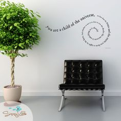 "Wall quote (would be great for a classroom, OT or therapist's office or at home): ""You are a child of the universe, no less the trees and the stars; you have a right to be here. And whether or not it is clear to you, no doubt the universe is unfolding as it should."""
