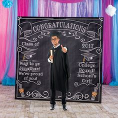 7 ft. 6 in. Graduation Chalkboard Photo Booth Prop