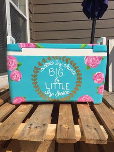 big little phi mu floral sorority cooler laurel wreath
