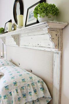 Converting the Shelf to a headboard! http://robin-happyathome.blogspot.com/
