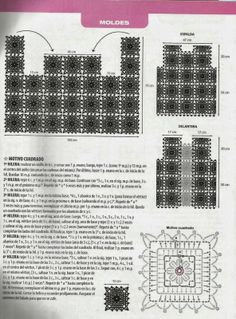 Chaleco Cuadrados de Crochet