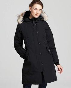 Canada Goose Black Kensington Down Parka Genuine Coyote Fur Trim Coat Size 8 (M) Canada Goose Kensington, Kensington Parka, Fur Trim Coat, Fashion Outfits, Fashion Tips, Fashion Trends, Women's Fashion, Fashion Weeks, Paris Fashion