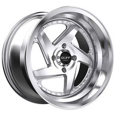 Ruff R368 15x8.5 4x100 17mm Silver Wheel Rim