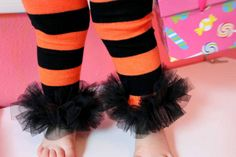 Halloween Tutu Ruffle Leg Warmers for baby, infant, or toddler