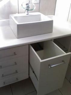 Hamper under some sink Diy Bathroom Vanity, Small Bathroom Storage, Vanity Decor, Bathroom Organisation, Bathroom Interior, Master Bathroom, Laundry Cabinets, Bathroom Cabinets, Cabinet Furniture