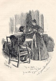 You are all together a human being, Jane?  You are certain of that?  -  Jane Eyre Illustrated: F.H. Townsend
