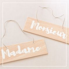 Pancartes de mariage Monsieur Madame • Lot de 2