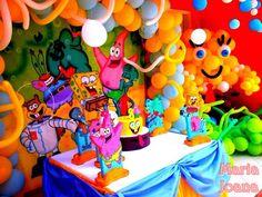 Festa infantil tema Bob Esponja