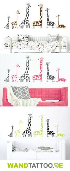 Wandtattoo Lustige Giraffen hier entdecken. Spitzenqualität aus Deutschland | schnelle Lieferung | portofrei (D) bei WANDTATTOO.DE bestellen!
