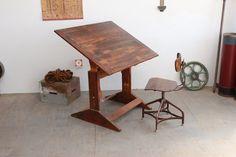 Vintage Mid-Century Adjustable Drafting Table