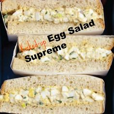 Egg Salad Supreme was out of this world! #serioussandwich