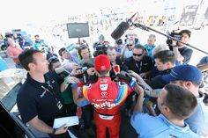 At-track photos: Phoenix weekend  Sunday, March 19, 2017  Kyle Busch, driver of the No. 18 Skittles Toyota, talks with the media after exiting the NASCAR hauler before practice for the Monster Energy NASCAR Cup Series Camping World 500 at Phoenix Raceway on March 17, 2017 in Avondale, Arizona.  Photo Credit: Getty Images  Photo: 48 / 62