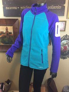 Women's Eddie Bauer First Ascent Polar Tec Teal And Purple Fleece Zip  L Mint  | eBay
