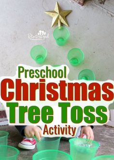Christmas Tree Toss Activity That's FUN! · Pint-sized Treasures Preschool Christmas Tree Toss Activity That's FUN! · Pint-sized Treasures,Preschool Christmas Tree Toss Activity That's FUN! Christmas In July, Family Holiday, Simple Christmas, All Things Christmas, Christmas Crafts, Christmas Tree, Christmas Ideas, Christmas Music, Outdoor Christmas