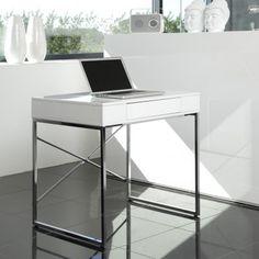 designerskie biurko, nowoczesne biurka do salonu gabinetu lub pokoju pracy, meble bydgoszcz Bureau Design, Laque, Desk, Furniture, Home Decor, Desk Layout, Cheap Furniture, Home Design, White People