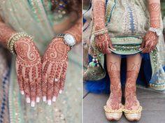 Garrett Frandsen Indian Wedding Atlanta Georgia Grand Hyatt Buckhead Bride Beauty Portrait Mendhi Mehndi Nails Shoes Henna Party