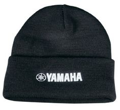 """Genuine Yamaha O.E.M. Yamaha Roll-Up Beanie Black by Yamaha. $11.95. 100% acrylic with 3-D Yamaha embroidery. Measures 13"""".. Available in black, red and blue.. 100% acrylic with 3-D Yamaha embroidery. Measures 13"""".  Available in black, red or blue."""