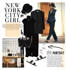 """The Pantsuit"" by barngirl ❤ liked on Polyvore featuring Valentino, Rick Owens, Yves Saint Laurent, Bobeau, Steve Madden, H&M, Anja, Casetify, Givenchy and Cutler and Gross"
