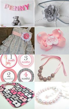 Pretty in Pink and Grey by magicalattic on Etsy--Pinned with TreasuryPin.com