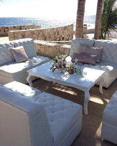The perfect setting view for your or in Our team will create the perfect for you! White Furniture, Outdoor Furniture, Outdoor Decor, Rental Decorating, Event Design, Special Events, Destination Wedding, Wedding Decorations, Mexico