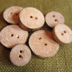 homemade wooden buttons...something different.