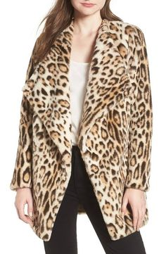 8db3e4c618aa Leopard Faux Fur Jacket Coat - Go boldly into the season with this  leopard-print