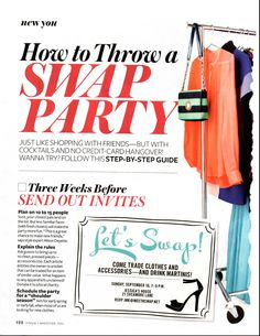 This would be fun....and useful since I just had a baby!    How To Throw A Swap Party - Rehash Clothes