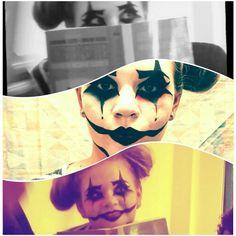 Harley quinn clown make up