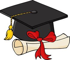 graduation clip art borders graduation cap and diploma free clip rh pinterest com Diploma Scroll graduation hat and diploma clipart