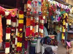 Plastic flowers at Flower Market Mysore