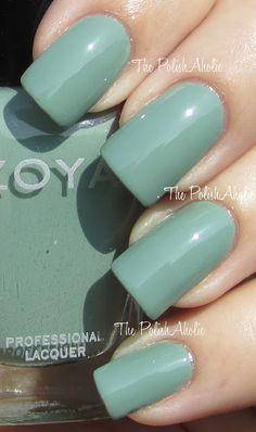 Bevin by Zoya - The PolishAholic: Zoya Spring 2012 True Collection Swatches Mint Nail Polish, Nail Polish Colors, Nail Polishes, Great Nails, Fabulous Nails, Shellac, Joy Nails, Finger, Nail Envy