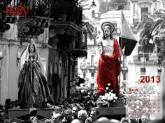 Wallpaper Calendar - March 2013 [Easter Celebration in Sicily] - click on the Image to Download the Full Version