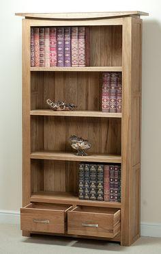 Tokyo Solid Oak Tall Bookcase