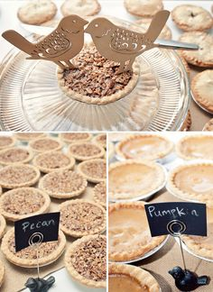 mini wedding pies instead of cake!