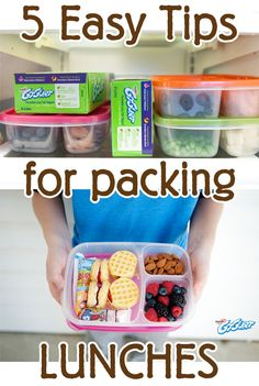 5 Easy Lunch Box Packing Tips: Pack lunches for your kids in no time – 5 easy tips! Good general ideas for packing kids' lunches. Incorporate more whole foods for an all-around healthier lunch. Cold Lunches, Toddler Lunches, Lunch Snacks, Healthy Snacks, Toddler Food, Whats For Lunch, Lunch To Go, Lunch Time, Easy Lunch Boxes