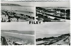 1960s black and white vintage seaside Filey postcard
