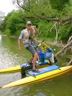 nice one sitting under submerged tree branch Small Fishing Boats, Fishing Adventure, Brazil, Wildlife, Deck, Bike, Sports, Pontoons, Bicycle