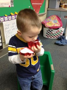 Cutest I Love You Ritual ever! Send around a heart shaped box for students to put kisses in for the friends who aren't there that day.